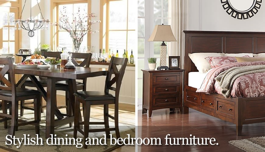 Quality bedroom and dining furniture.